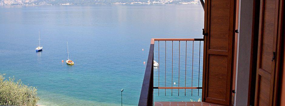 Ferienwohnung Gardasee mit Balkon Seeblick